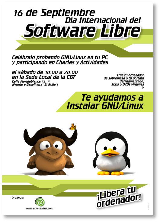 Cartel Día del Software libre