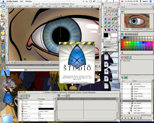 synfig trabajando en Mac OS